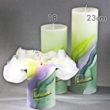 Lotuskerze ART -  GREEN LILAC 23cm